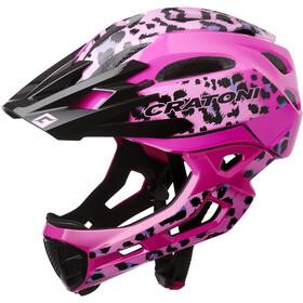 Cratoni C-Maniac Pro MTB Helm, leo/pink gloss